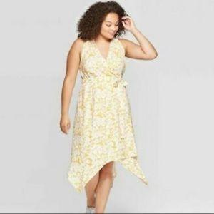 BNW/out Tag Ava & Viv sz3x Floral Vneck Wrap Dress